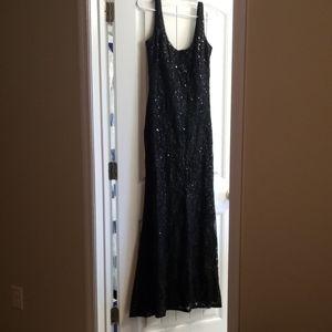 Black Sequin Betsy & Adam Dress